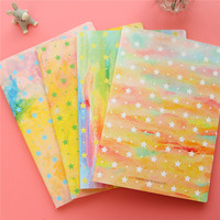 2016 cute korean stationery 16K cheap paper shining star colorful cover wholesale school notebooks