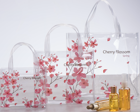 Wholesale Transparent PVC handbags Cosmetic Bag with customized <strong>designs</strong>