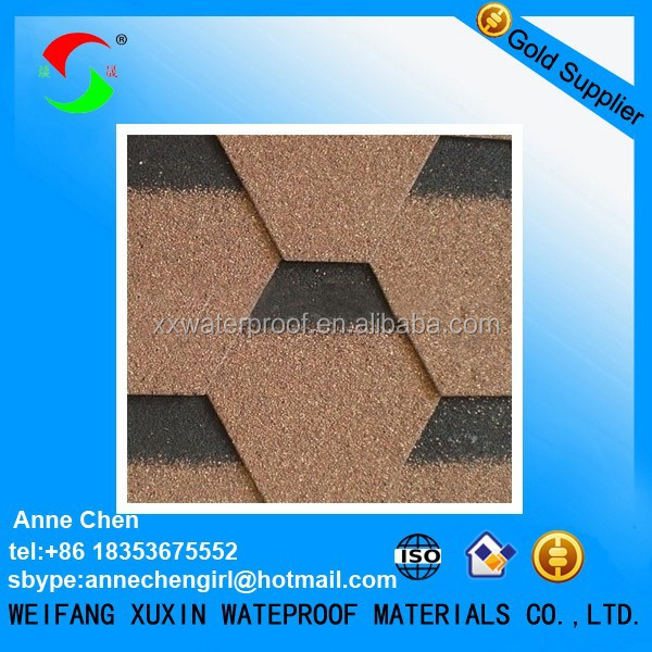 colorful dimensional asphalt shingles for roofing