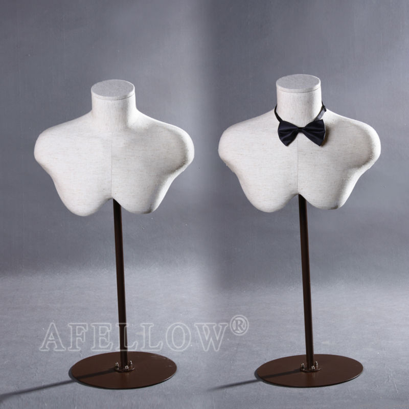 Fashion half body male jewellery display mannequin