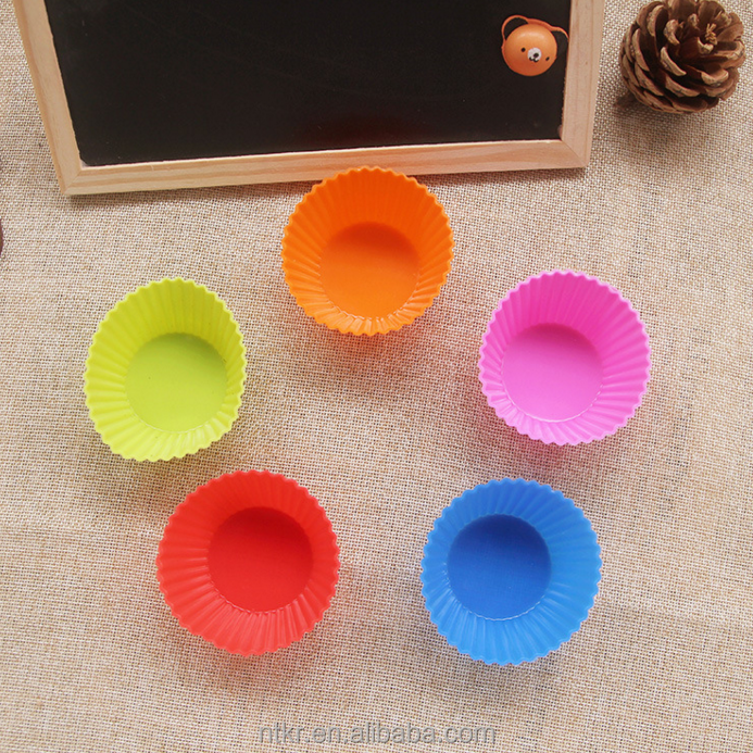 Silicone Muffin cup roud bakeware pan moulds Cupcake Maker and Soap Mold Multi-purpose Bakeware 4/6/12 Cups cake tools