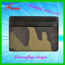 Funky camouflage 3m sticker smart mobile card holder of leather wallet