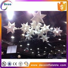 best price good quality beauty super cool inflatable stout star balloon with LED for night cube or party decoration
