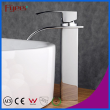 Fyeer High Body Simple Waterfall Wash Basin Faucet Water Mixer Tap