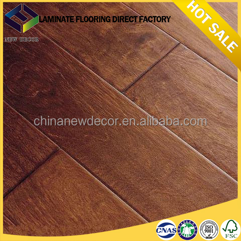 8mm ac4 hdf hot sale cheap wood floating laminate flooring manufacturer
