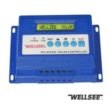 wellsee new product WS-SC2430 three stage mppt inverter solar <strong>charge</strong> <strong>controller</strong> 20A 30A