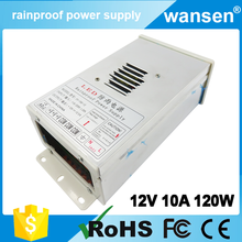 wholesale alibaba China dc waterproof led driver 12v 10a 120w cctv power supply 12v warranty