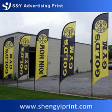 advertising flag beach teardrop feather wind banner printing