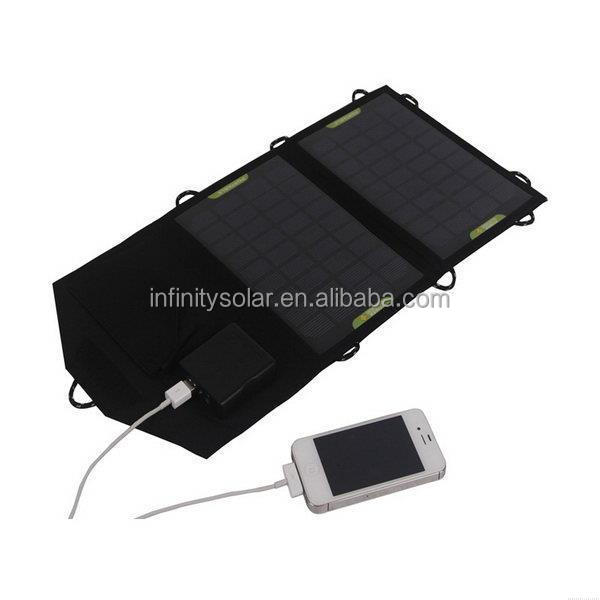 7W Portable Folding Solar Charger Bag for Laptops/Mobile Phones