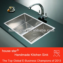 CUPC SUS304 kitchen stainless steel sink small double bowl kitchen sink for USA & Canada --- 7144RA