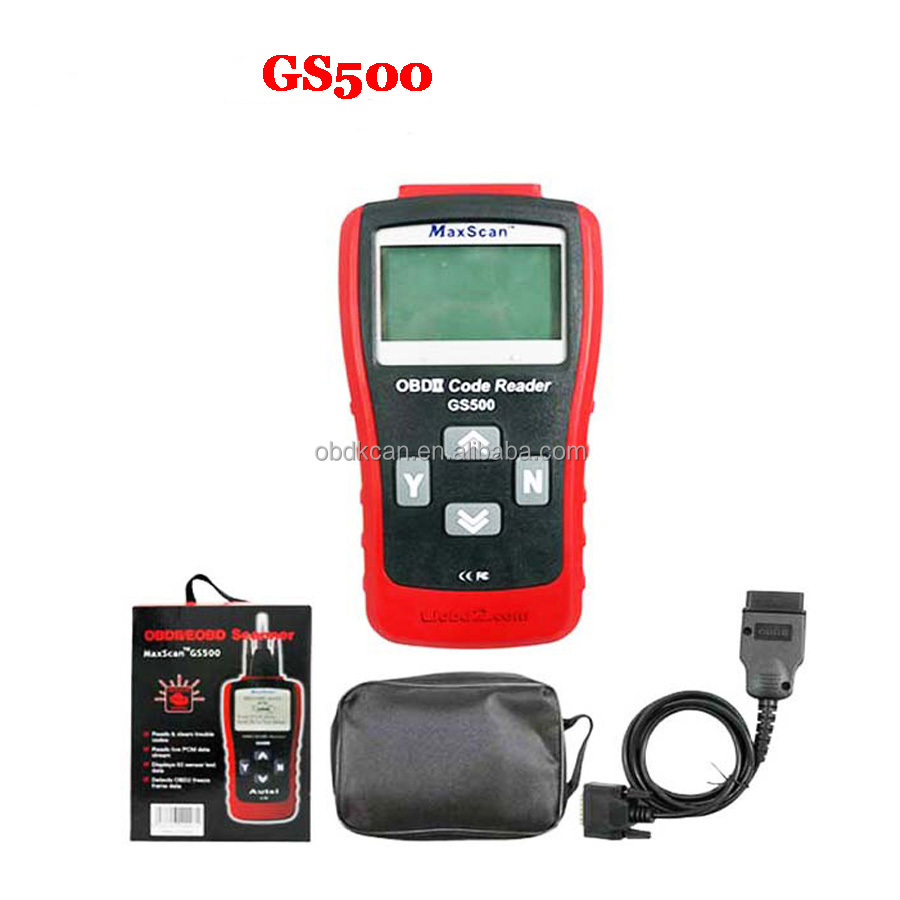 2017 OBD2 MaxScan GS500 Scanner - obd ii Diagnostic Trouble Code Reader with best quality and best price