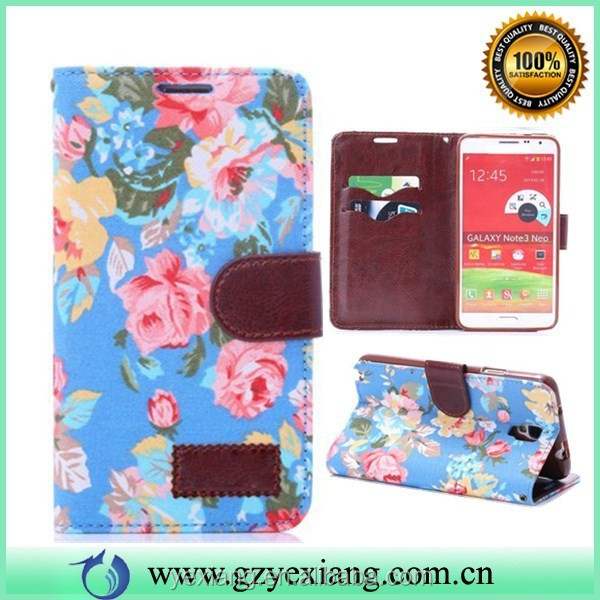Card Slot For Samsung Galaxy Note 3 NEO N750/N7505/N7506 Folio Leather Cover