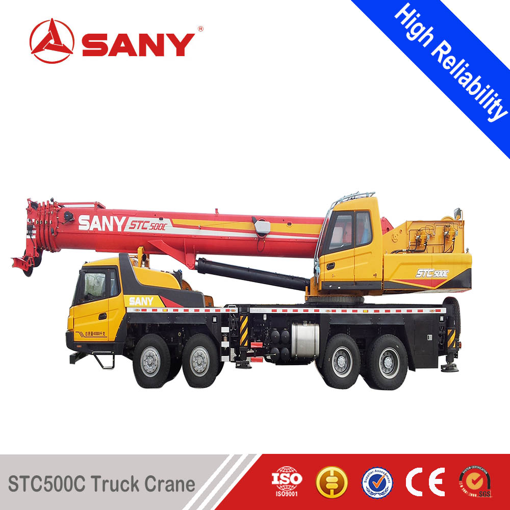 SANY STC550 55 Tons High Strength Steel Mounted Truck of Hydraulic Crane(telescopic boom)