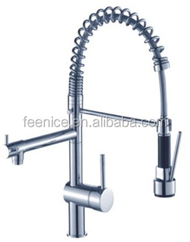 WELS Brass Chrome big pull out spring kitchen tap