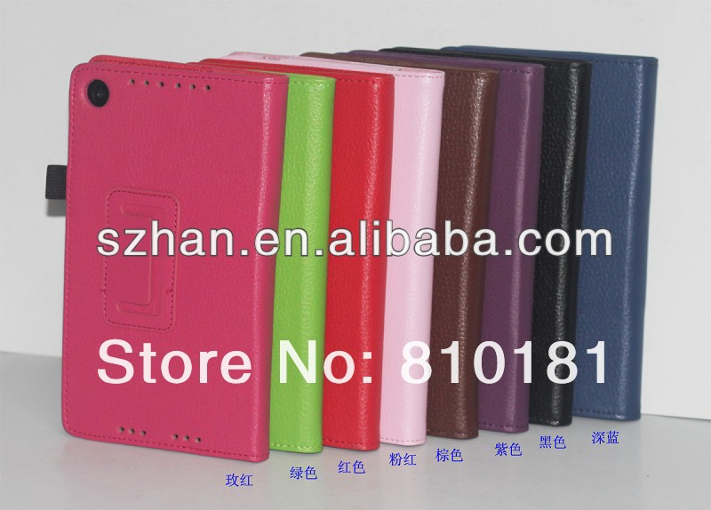 For Google Nexus 7 II 2nd Lychee PU Leather Wallet Cover Case with Stand