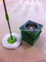 SPIN MOP AND BUCKET KIT ROTATING 360 MICROFIBRE CLOTH HEAD SUPER WONDER MOP Mop And Bucket Home Cleaning Set