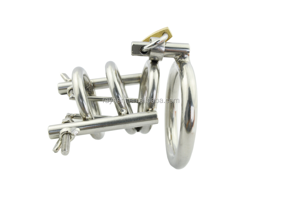 A148 Penis Ring Adjustable Penis Plug High Quality metal Cock Cage Male Chastity Belt Chastity Device for Man