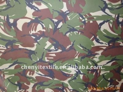 polyester fabric with military print