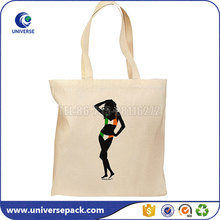 Factory custom printed cotton bra bag with handles