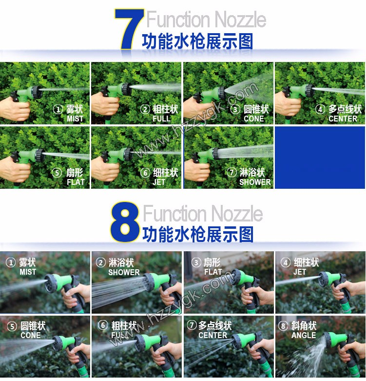 Home & Garden Watering Flexible Extension Hose, Plastic Hose Hanger
