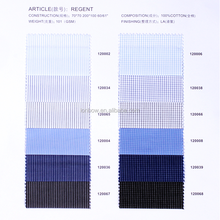 100% cotton fabric classic stripe with six basic colour for busness casual wear