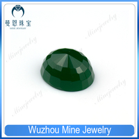 Top Quality oval cut turtle faceted Tower shape Malay jade gems