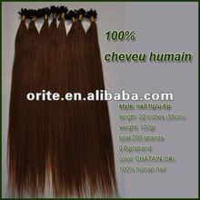 brazilian human hair nail hair extension bridal