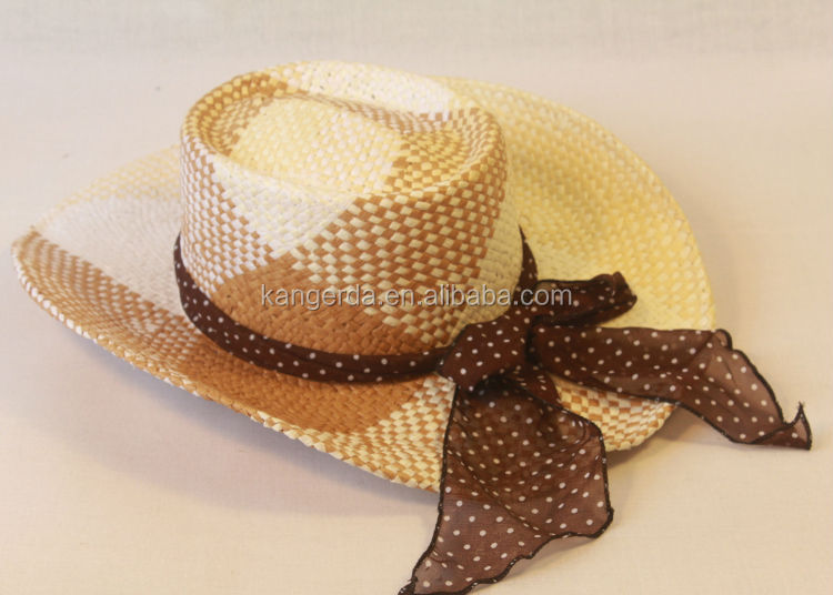 green color custom hats/summer straw hats for girl