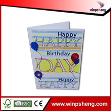 Custom Printing Greeting Card Manufacturer/2014 New Year Greeting Card