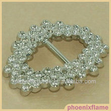 beautiful rhinestone ribbon buckle for wedding