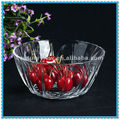 wholesale clear large decorative round glass fruit bowl