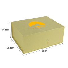 brown rigid custom paper mache book shaped boxes