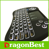 2017 Hot sales H9 backlit air mouse 2.4G Wireless laptop keyboard With the Best Quality remote control