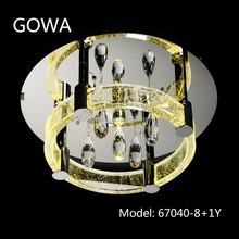 2015 Gowa round type k9 crystal home ceiling lamp model 67040-8+1Y