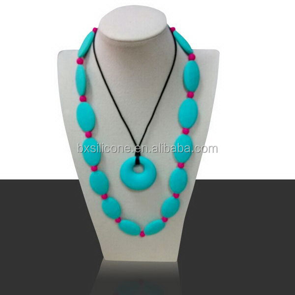 Newest hot-sale silicone rubber necklace for men