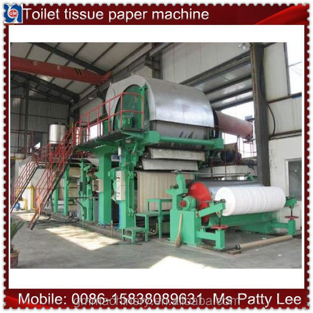 High speed tissue paper jumbo roll and toilet paper making machine manufacturing machine