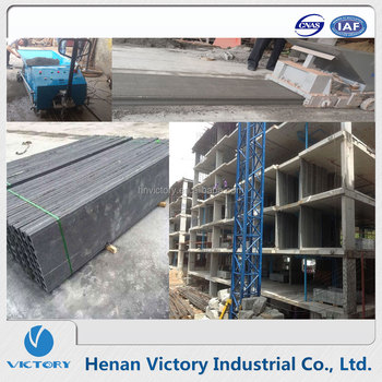Precast concrete hollow core wall panel extruder machine