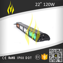 "22"" 120W Offroad Single Row Led Light Bar Amber/Green/White 4x4 4WD"