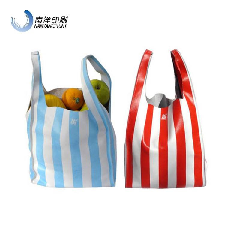 Custom Color Leather Grocery Tote Bag For Shopping