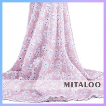 Mitaloo African polyester lace fabric Organza lace for Bridal Dress in Fashion Embroidery Pattern MOG0191