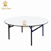 PVC Top Round Foldable Banquet Chair and Table For Restaurant