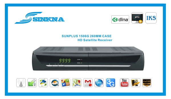 Full HD Sunplus 1506G DVB S2 With DLNA/IPTV/IKS