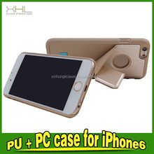Nice Look PU+PC Case For IPhone 6 Phone Case With Stand Functions