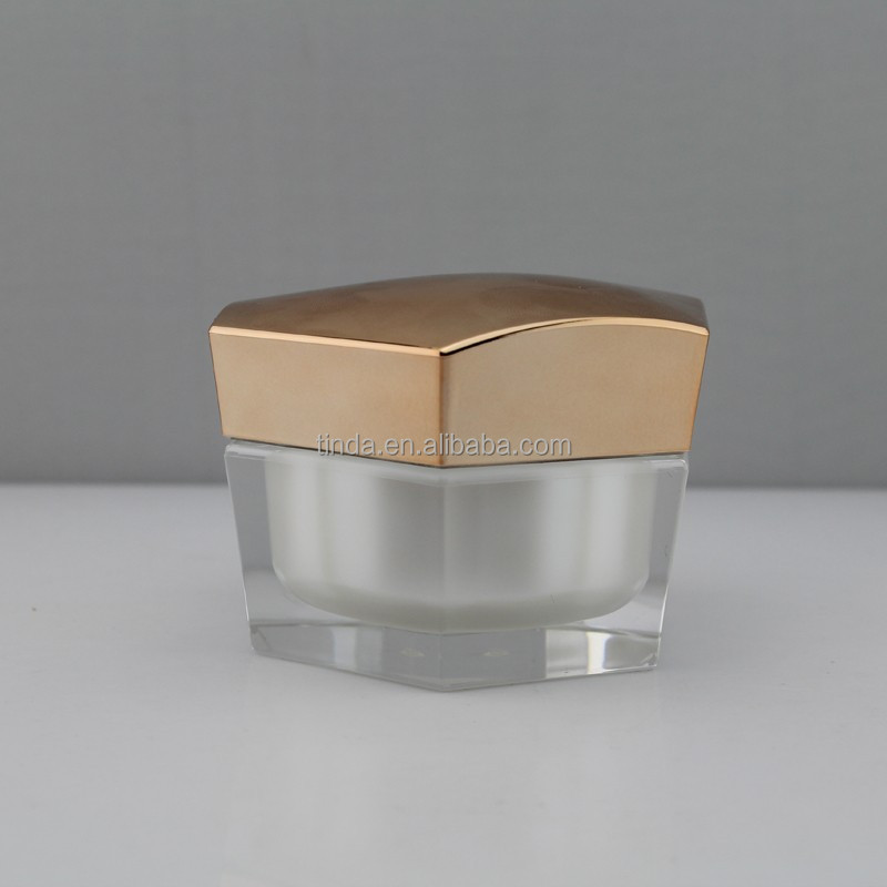 Diamond of transparent plastic cosmetic packaging/acrylic jar and emulsion pump bottle