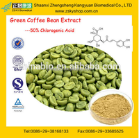 GMP manufacturer supply Losing Weight Green Coffee Bean Powder Extract