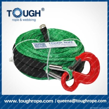 4WD off-road 4x4 synthetic electric winch rope with hook and sheath,12V,18000lbs,9.5mm*28m