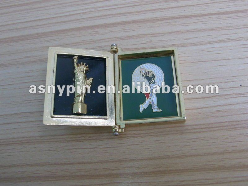 fashion US the Statue of Liberty and golf souvenir badges can open