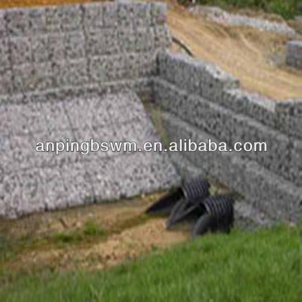 High quality gabion rock retaining wall