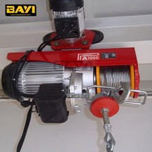 New Condition and Electric Power Source Miniature Hoist with remote control and electric trolley