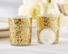 Home Decor Wedding Table Centerpieces Glitters Gold Votive Tea Light Candle Holder